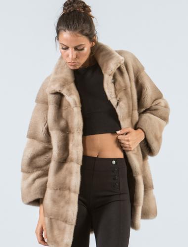 Ecru Mink Fur Jacket