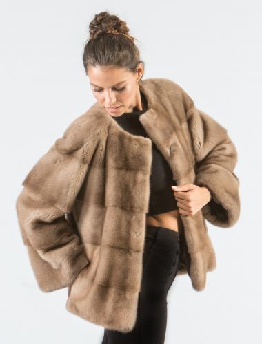Pastel Mink Short Fur Jacket
