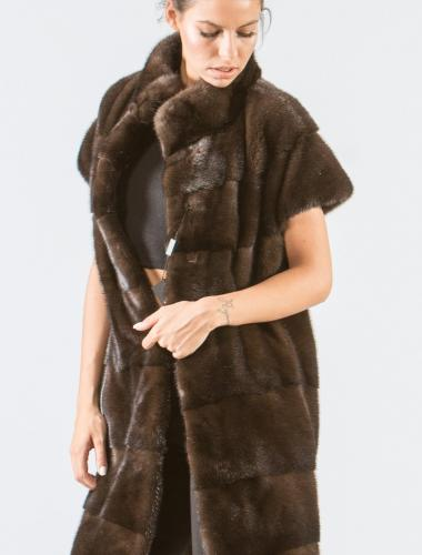Brown Mink Long Fur Vest