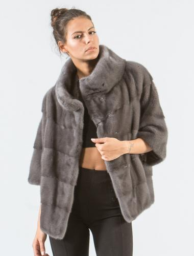 Gray Mink Short Fur Jacket