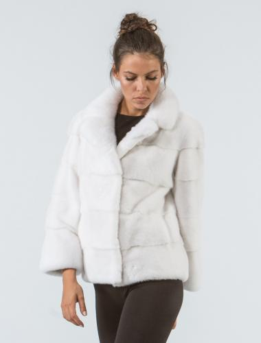 White Mink Short Fur Jacket