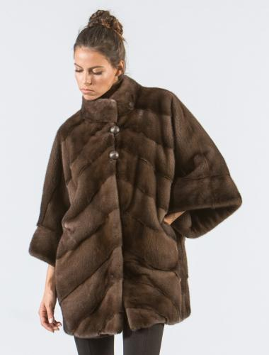 Mocha Brown Mink Fur Jacket