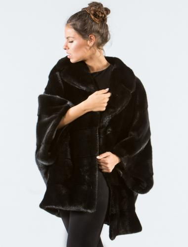 Black Mink Fur Cape