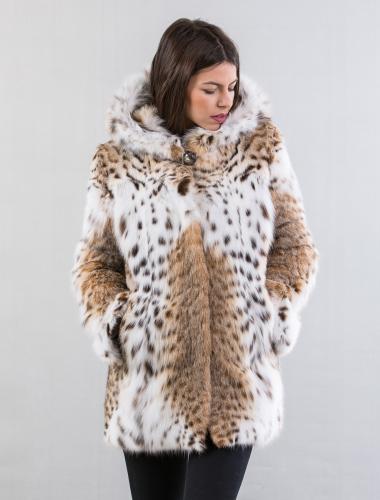 Lynx Fur Jacket With Hood