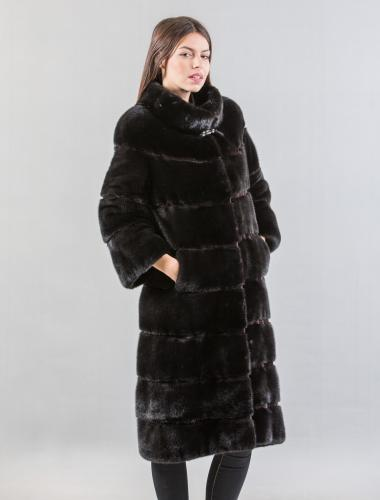 Black Mink Long Fur Coat