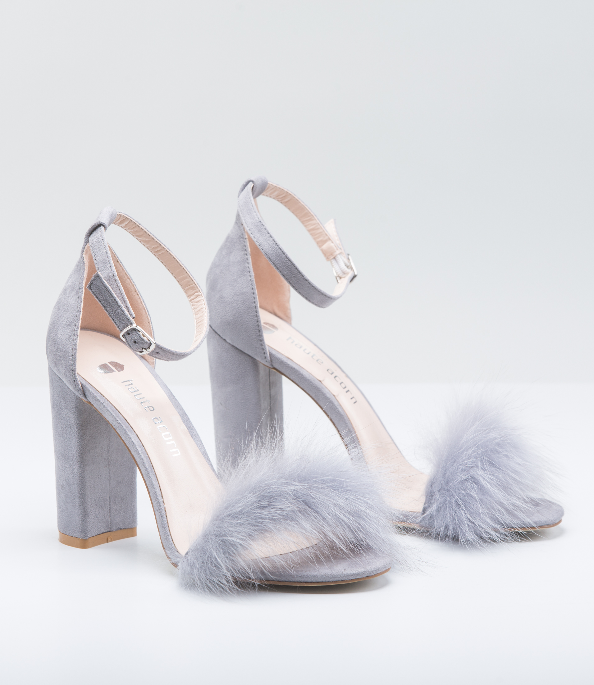 Grey Fox Fur Heels. Made of 100% Real Fur. All Sizes ...