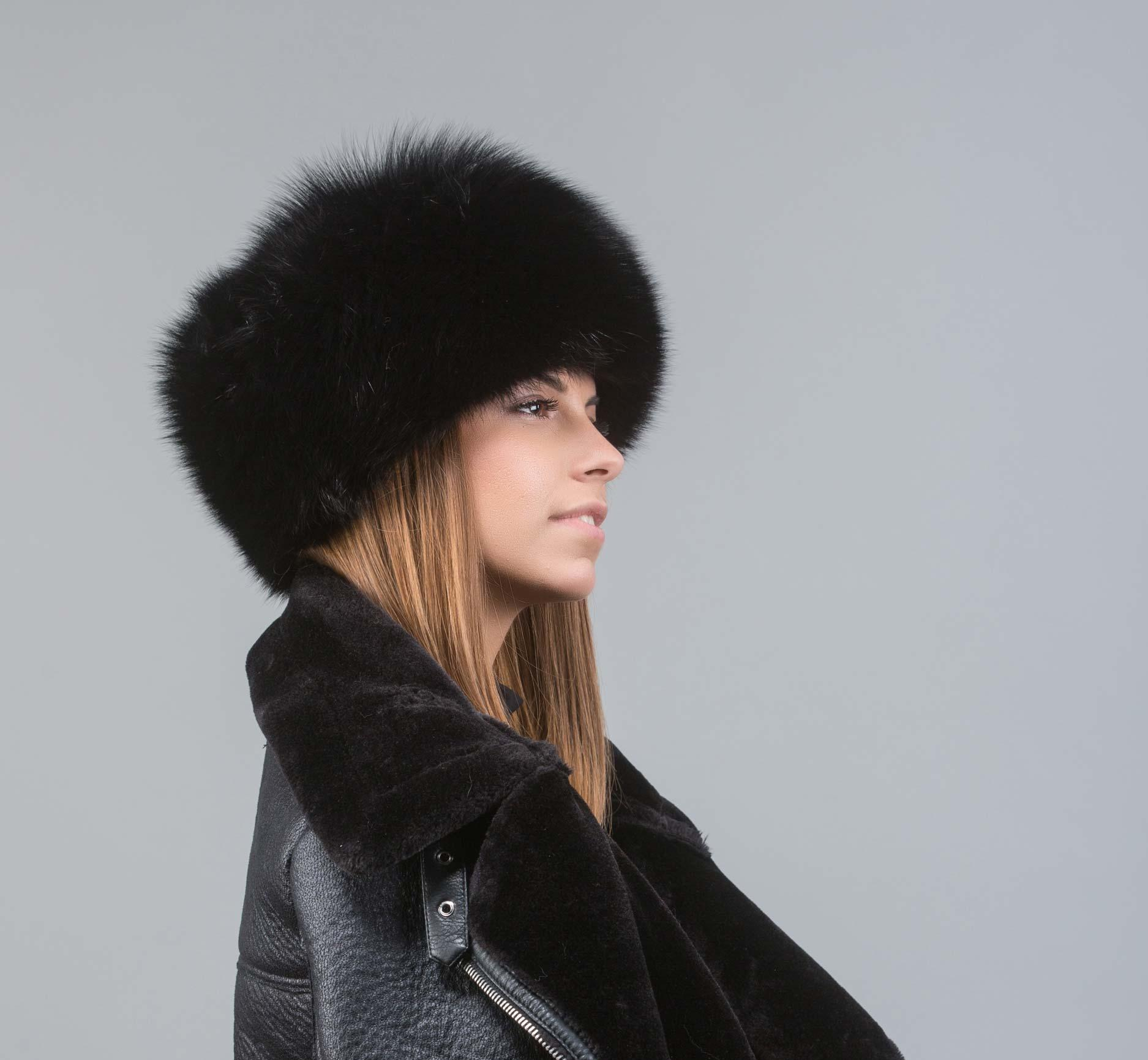 Black Fur Russian Hat . 100% Real Fur Accessories - Haute Acorn dec1b1110a4