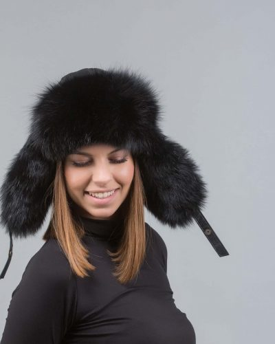 3838574053f96 Black Fur Hat Trapper ...