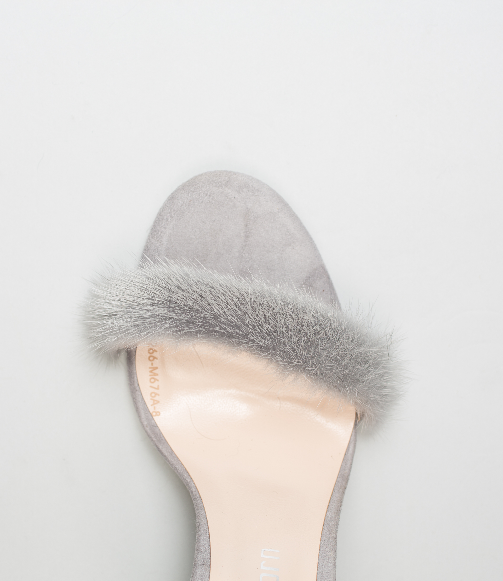 Gray Mink Fur Heels Made Of 100 Real Fur All Sizes Available