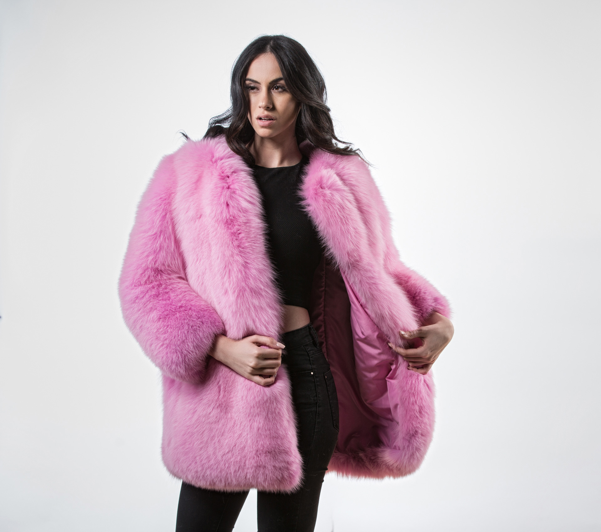 e20fb2e0f Colored Faux Fur Coat Na Kd Com