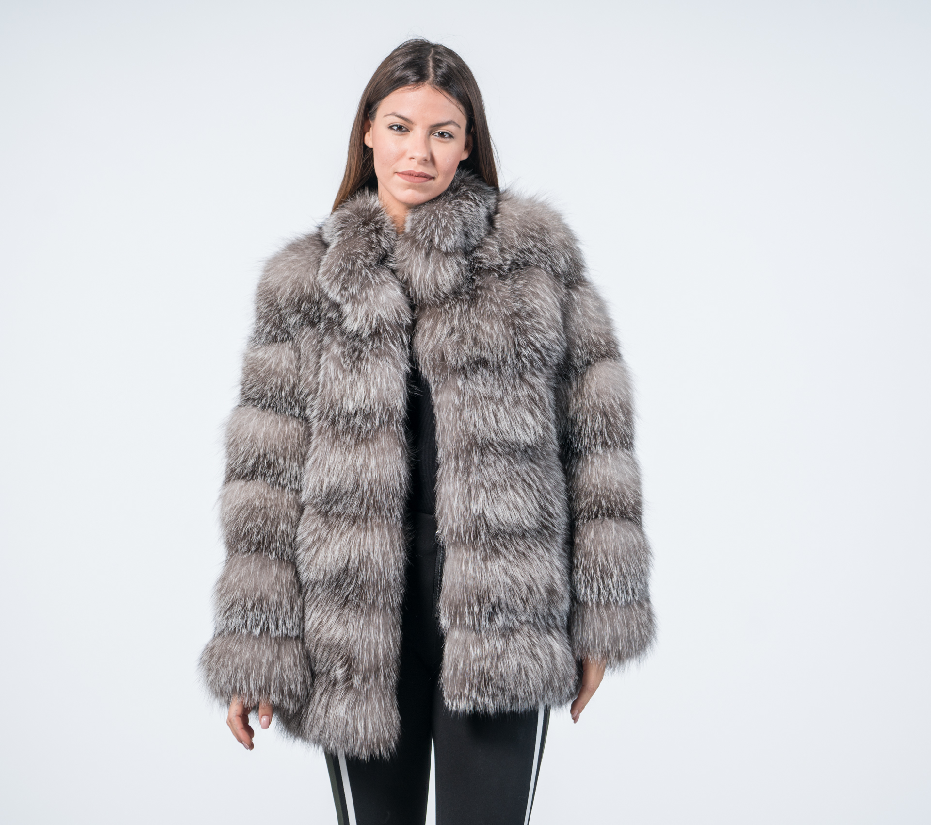 60e3988fdf Luxury Blue Frost Fox Fur Coat - 100% Real Fur - Haute Acorn