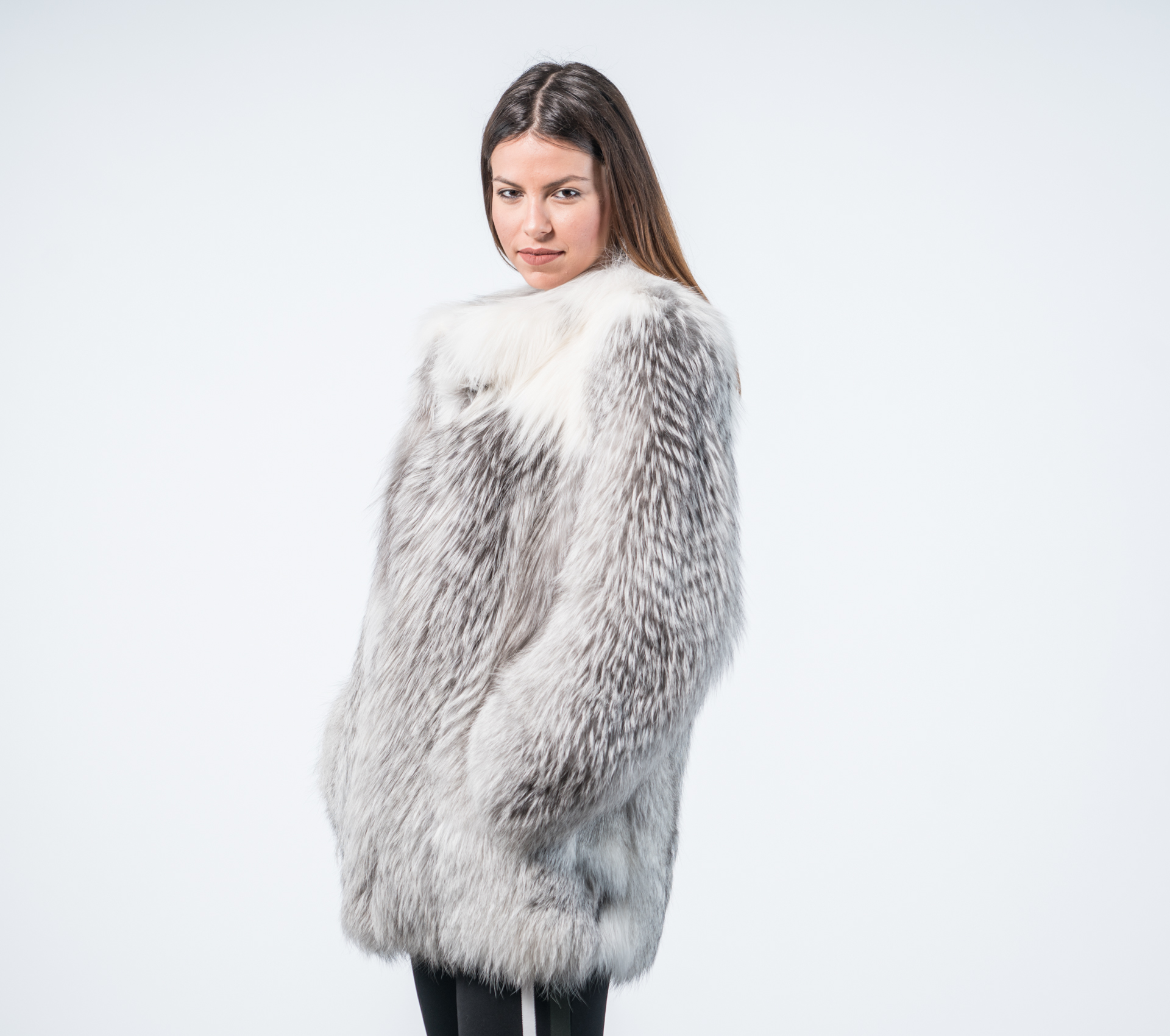 8518964f3 Marble Fox Fur Coat Womens - 100% Real Fur - Haute Acorn