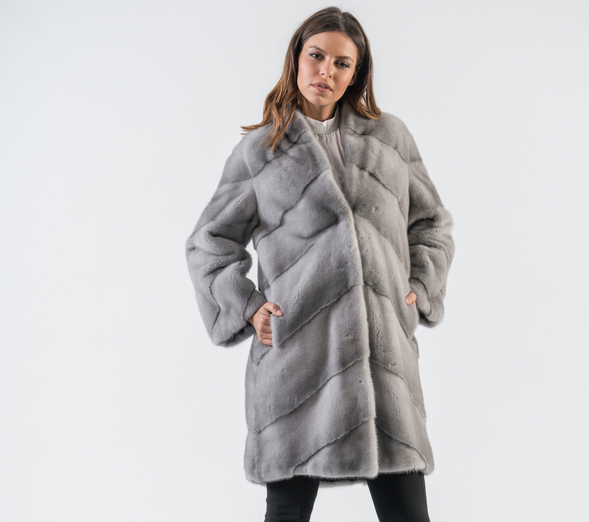 c27da9a87ba14 Sapphire Mink Fur Coat - 100% Real Fur - Haute Acorn