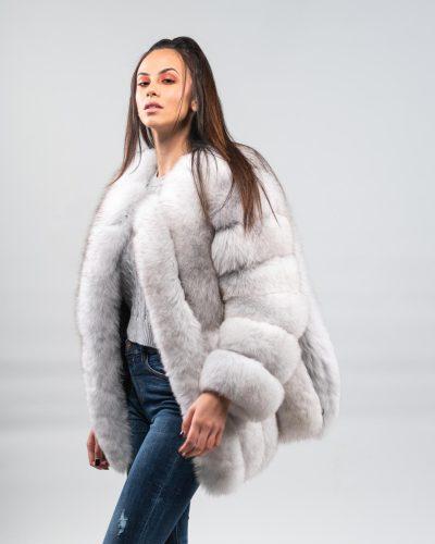 Fox Fur Coat Jacket And Vests, White Fox Fur Coat Outfit