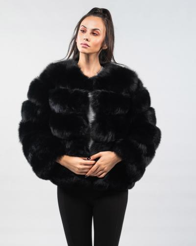 fb7f5bc23c9 Black Fox Fur Jacket ...
