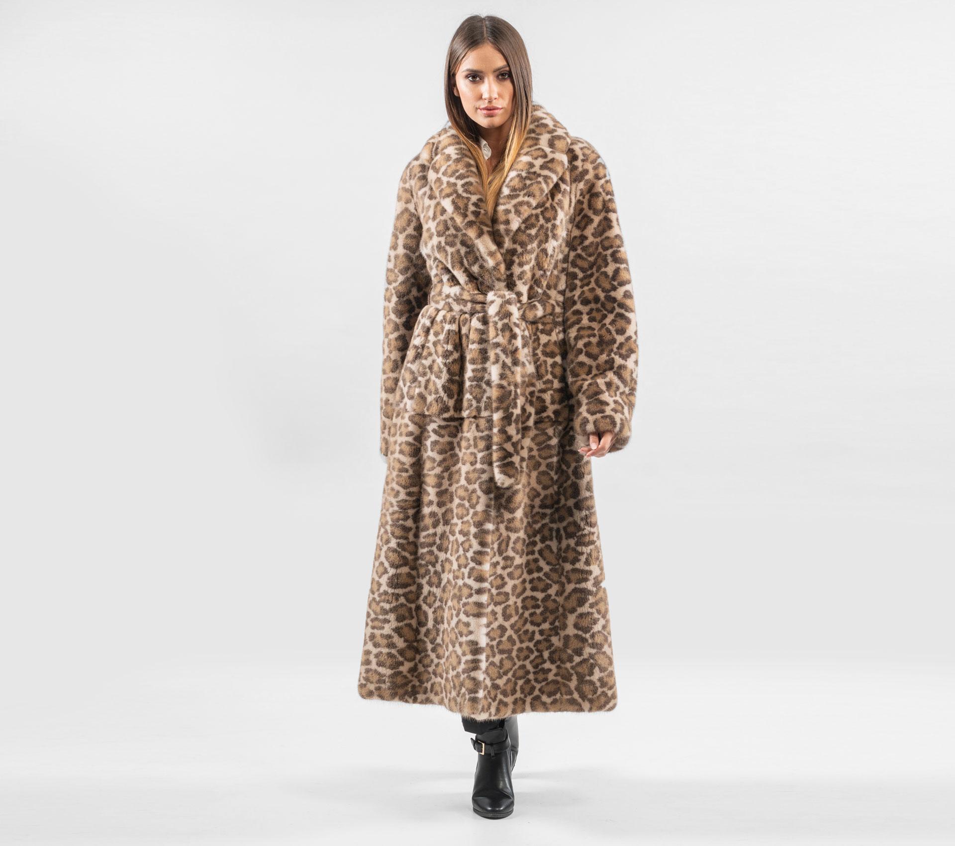 Spiksplinternieuw Palomino Leopard Mink Fur Coat - 100% Real Fur - Haute Acorn GT-89